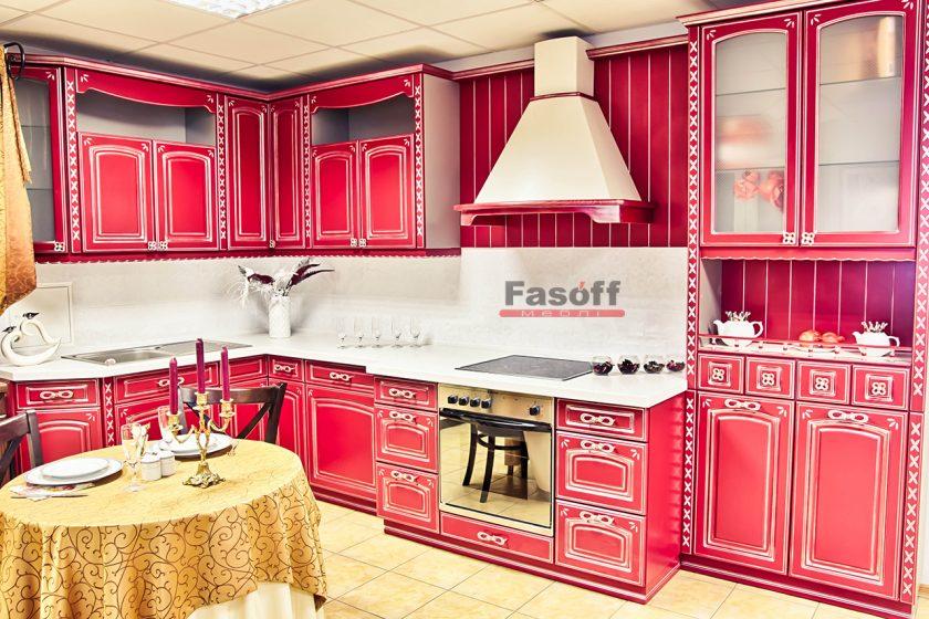 Кухня Дольче Бордовая классика