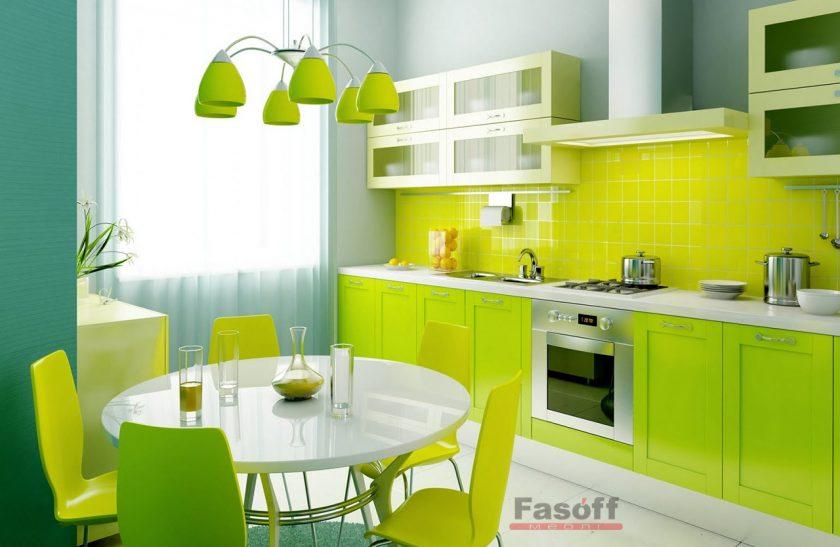 Кухня Фреш Хай-тек зеленая