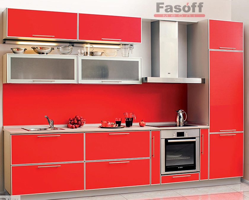 Кухня Калина красная матовая