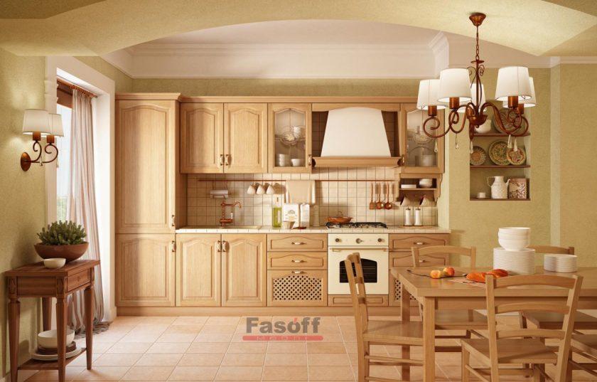 Кухня Карина МДФ пленочный цвет дуб