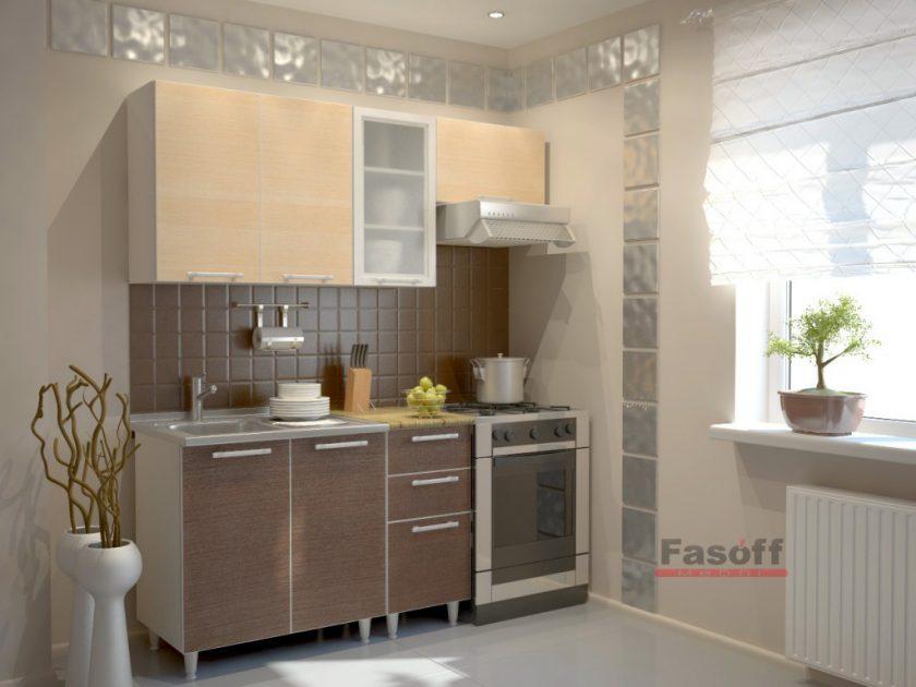 Кухня Квадро МДФ пленка, простая кухня, эконом кухня