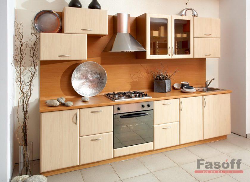 Кухня Лира светлая бежевая кухня МДФ пленка
