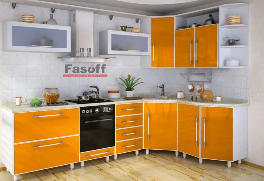 Кухня Оранж, кухня оранжевая модерн