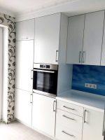 Кухня с фасадом МДФ крашеный и столешницей montelli под заказ Буча