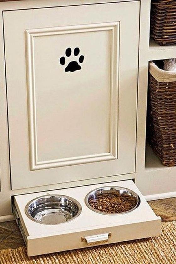 Место для домашних любимцев на кухне