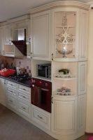кухня под заказ с крашеными фрезероваными фасадами МДФ с патиной и фурнитурой GTV + Blum Ирпень