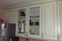 кухня под заказ с крашеными фрезероваными фасадами МДФ с патиной и фурнитурой GTV + Blum Вышеве