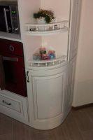 кухня под заказ с крашеными фрезероваными фасадами МДФ с патиной и фурнитурой GTV + Blum Билычи