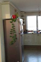 кухня под заказ с крашеными фрезероваными фасадами МДФ с патиной и фурнитурой GTV + Blum Гостомель