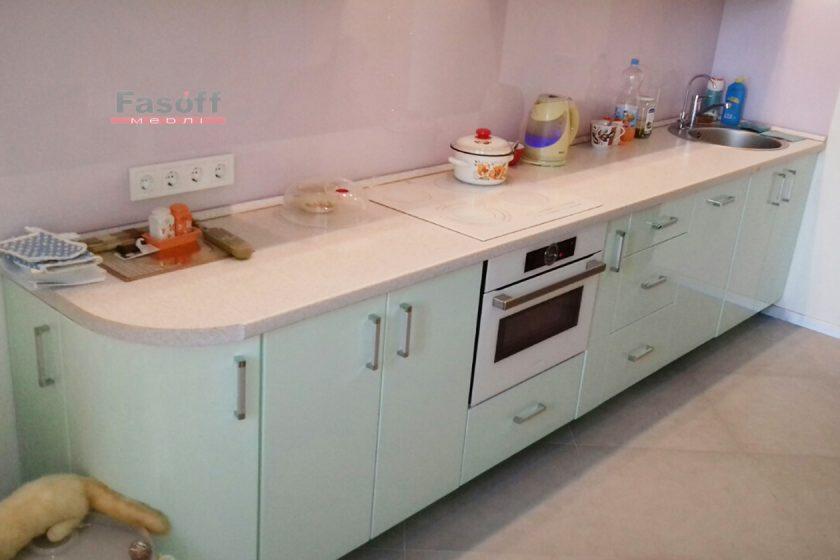 Кухня под заказ с крашенными МДФ фасадами и фурнитурой Gtv Киев