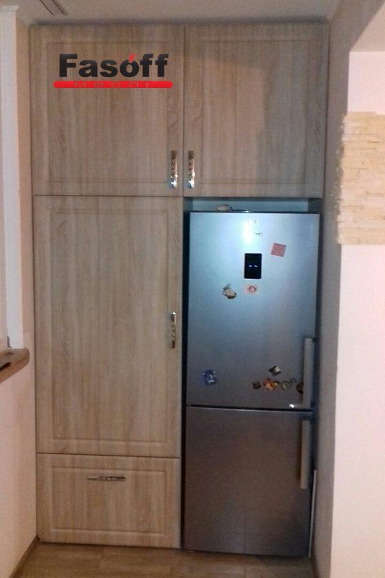 Шкаф под заказ с фасадами МДФ пленочный Di portes и фурнитурой GTV в Киеве