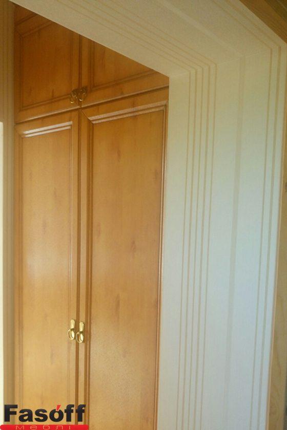 Шкаф под заказ с фасадом МДФ пленочный Edisan, корпус ДСП Свисс Кроно, фурнитура GTV святошинский раен