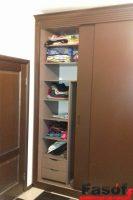 Купить шкаф с крашеными МДФ фасадами и раздвижной системой Слим Гостомель
