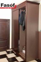 Купить шкаф с крашеными МДФ фасадами и раздвижной системой Слим Буча