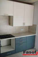 Кухня под заказ с фасадами МДФ крашеный и фурнитурой GTV Позняки
