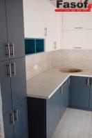 Кухня под заказ с фасадами МДФ крашеный и фурнитурой GTV Борщаговка