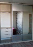 Шкаф-купе система открытая серебро