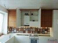 обшивка котла на кухне
