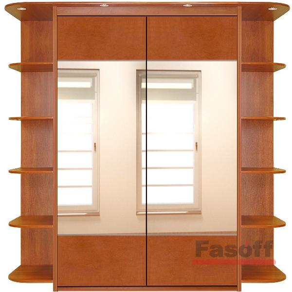 Купить стандартный двухдверный шкаф-купе в киеве фасад зеркальный комбинированый