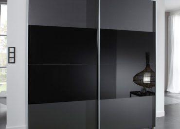 Шкаф-купе встроенный серый тонированное стекло
