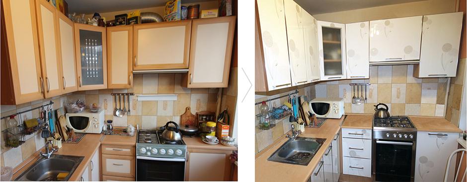 Замена мебельных фасадов и рестайлинг кухни Киев