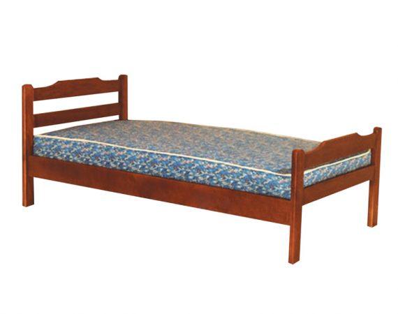 Кровать односпальная деревянная 023