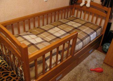 Кровать односпальная с ящиками К1-1