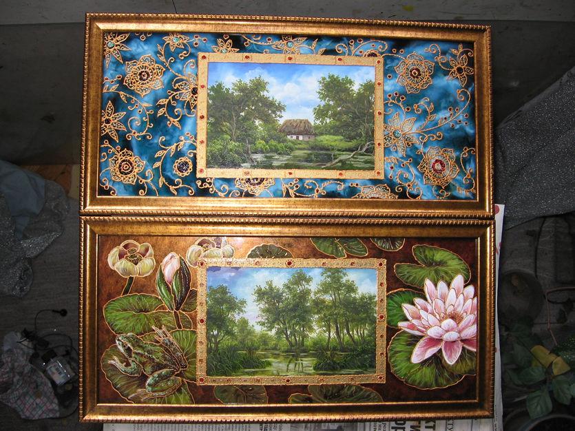 Картины красками в Киеве для кухни и шкафа-купе пейзаж
