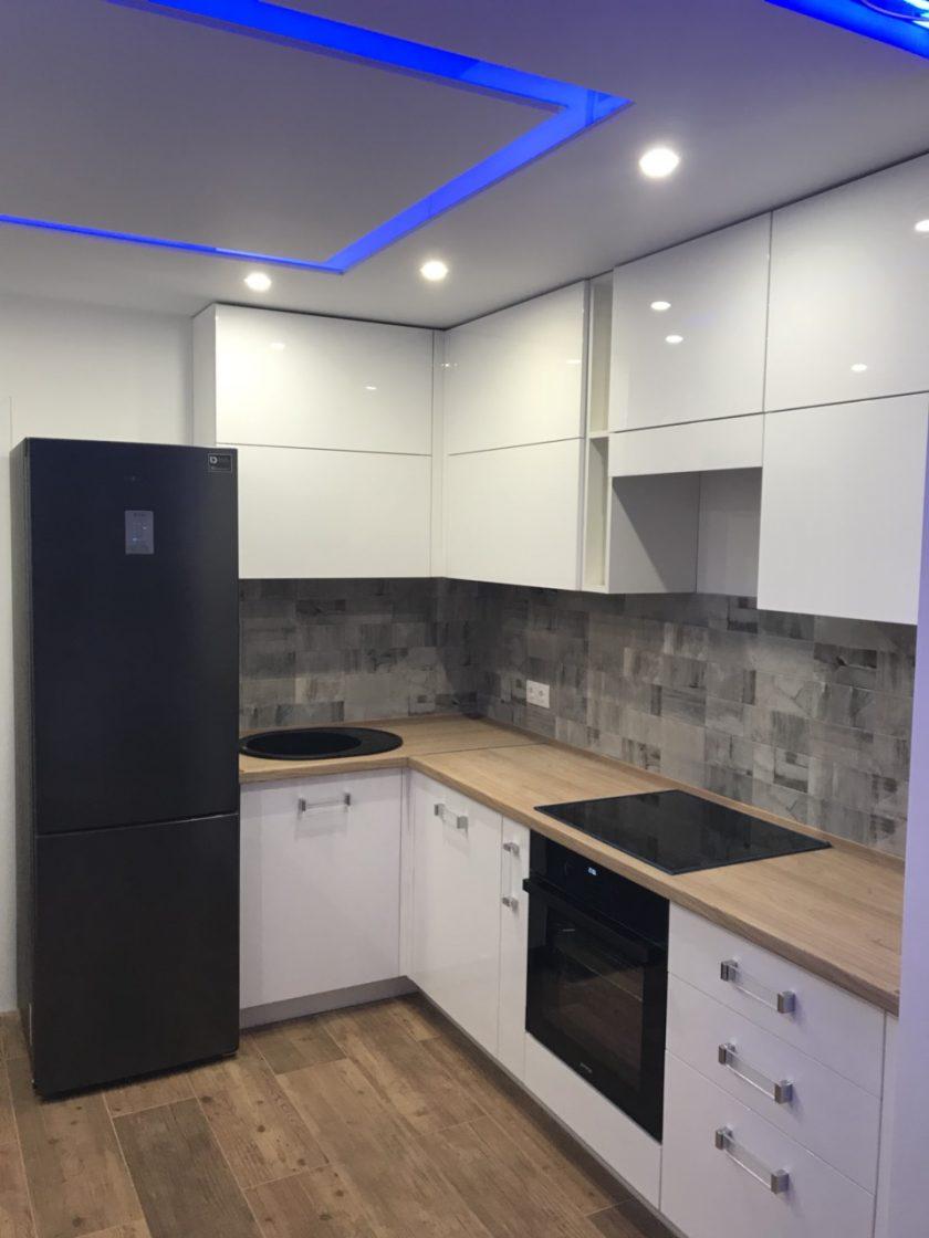 кухня угловая модерн глянец