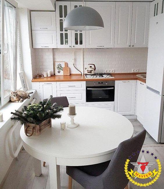 кухня в потолок угловая