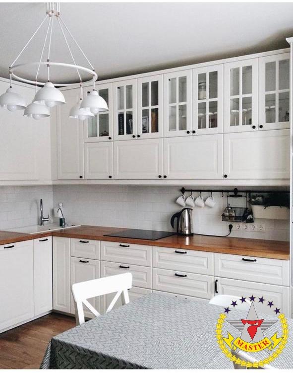 Кухня Адель белая прованс