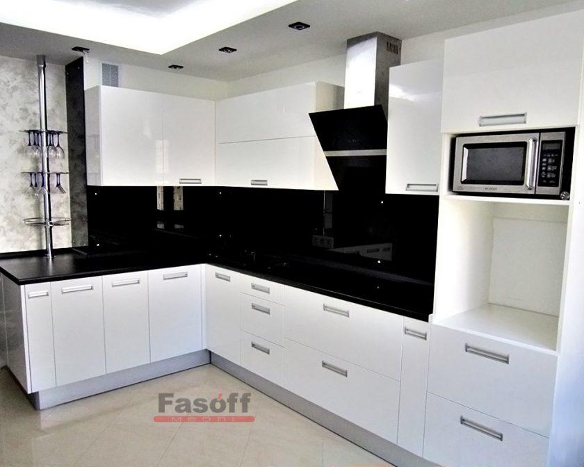 Кухня Белоснежка белая МДФ крашеный