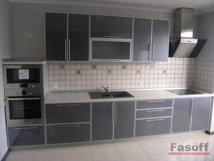 Кухня Графит пластик, серая кухня