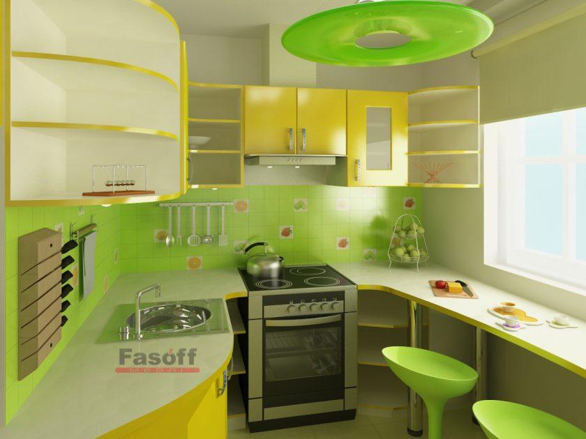 Кухня Лимон желтая модерн