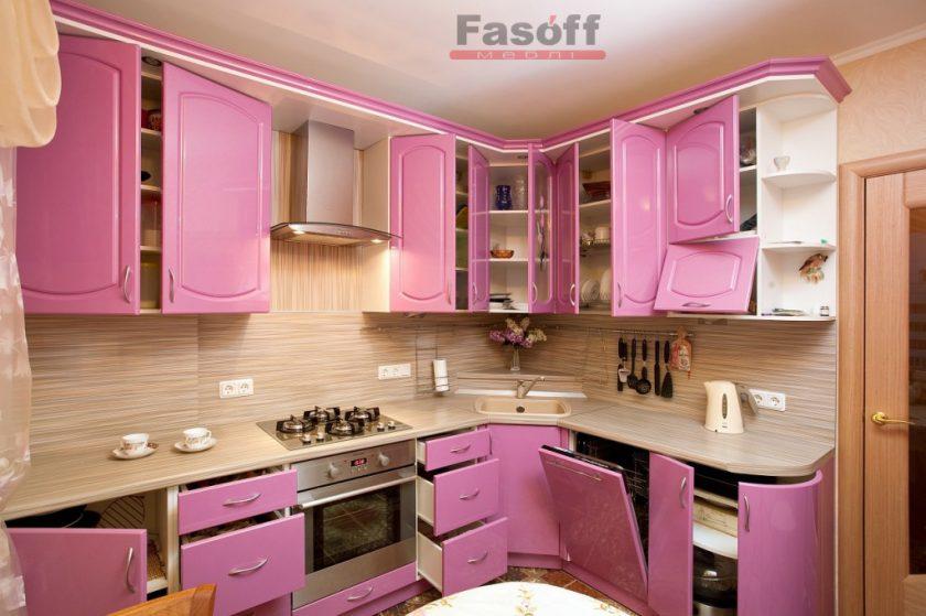 Кухня Розовая пантера, модная кухня, стильная кухня, необычная кухня