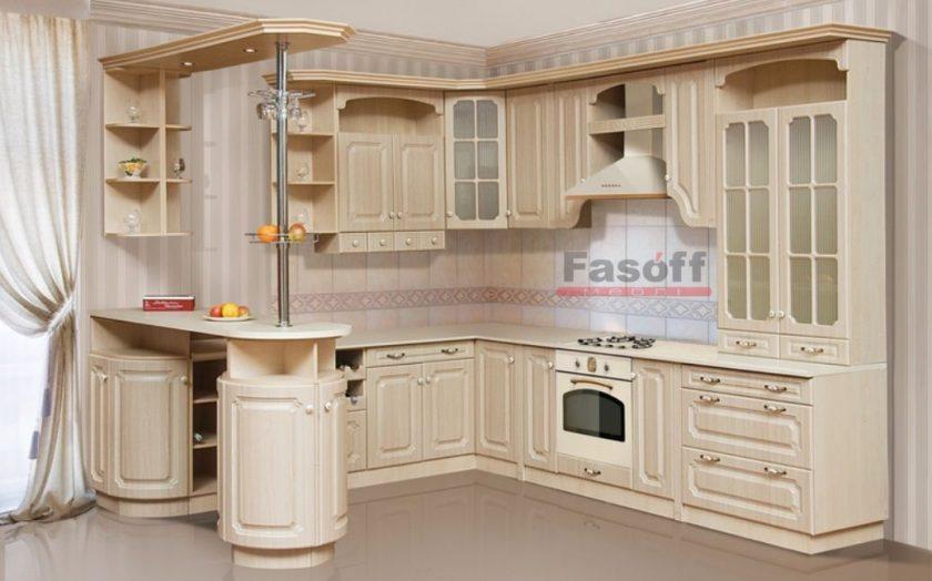 Кухня Валенсия клен светлый