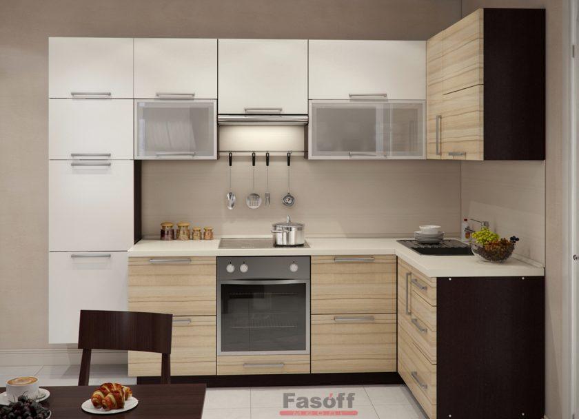 Кухня Валерия модерн светлая кухня