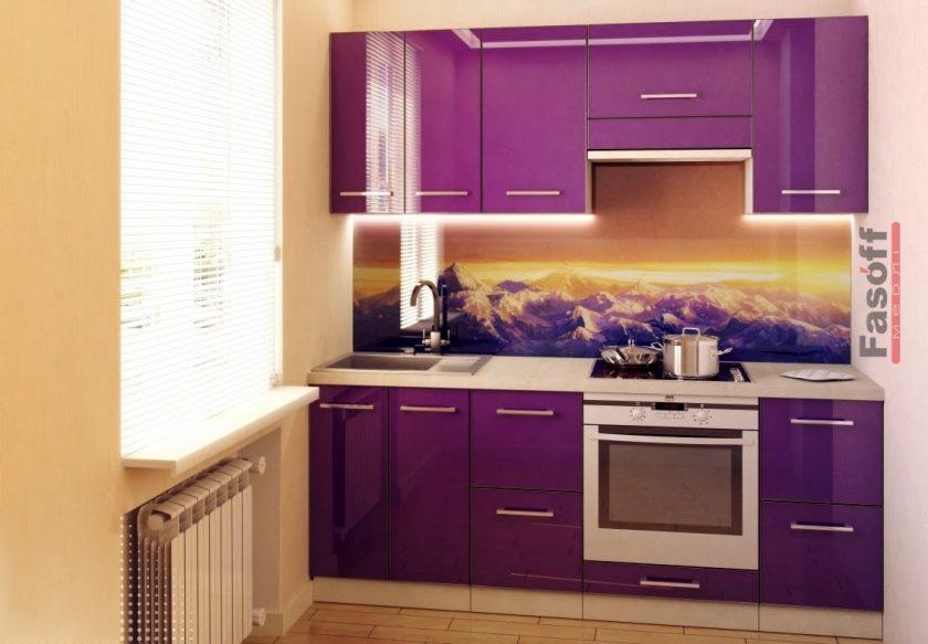 Кухня Виолетта фиолетовая глянцевая