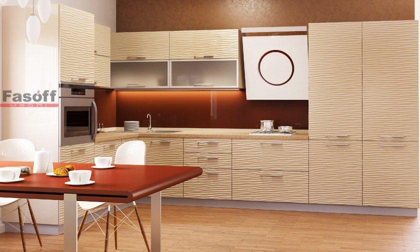 Кухня модерн Капучино глянец 3D волна от Аква Родос