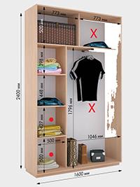 Внутрення планировка шкафов-купе