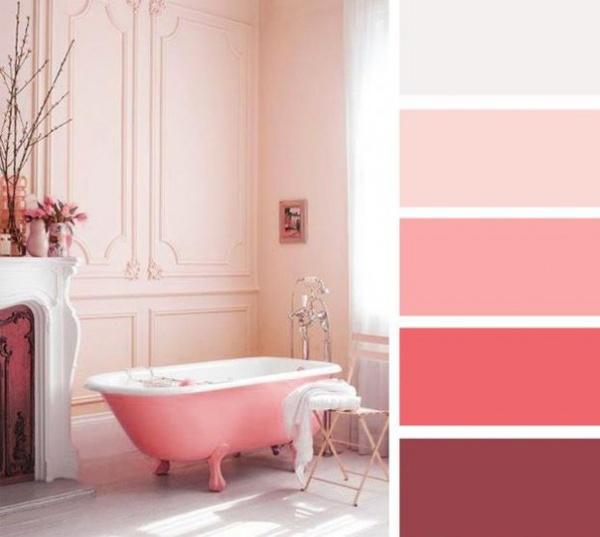 Интерьер в розовых тонах