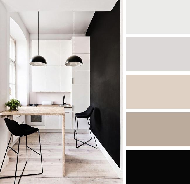 Кухня в черных и белых тонах