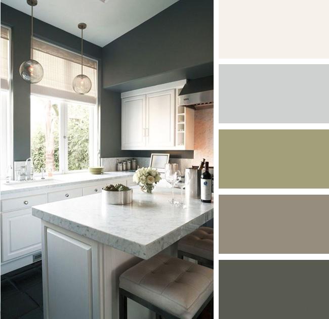 Кухня в серых и коричневых тонах