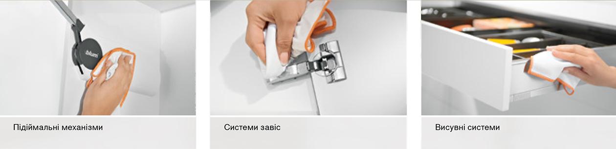 Как чистить, мыть петли и подьемные механизмы Blum
