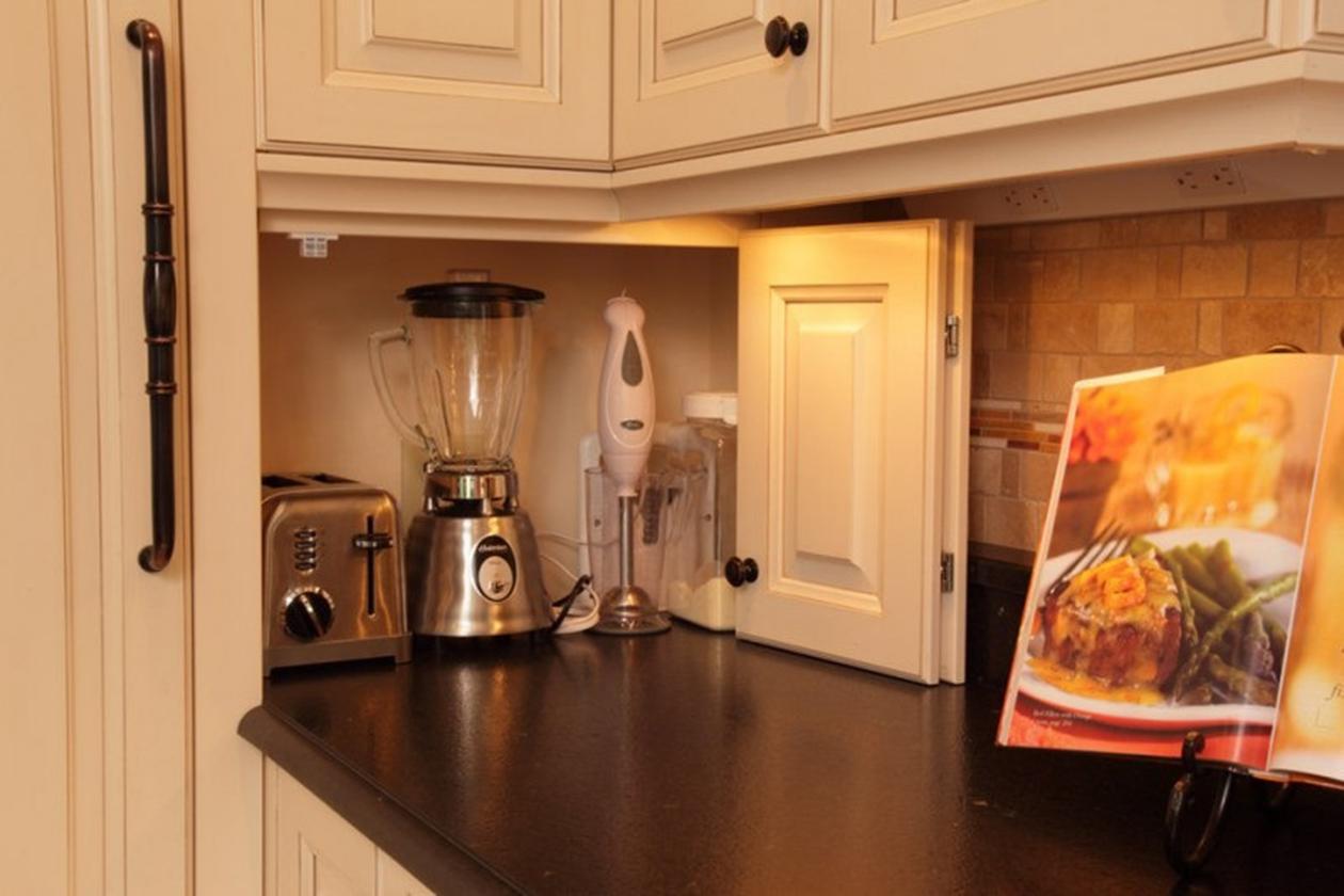 хранение мелкой техники на кухне