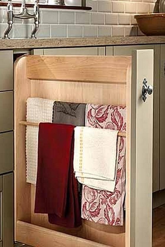 Хранение полотенец на кухне