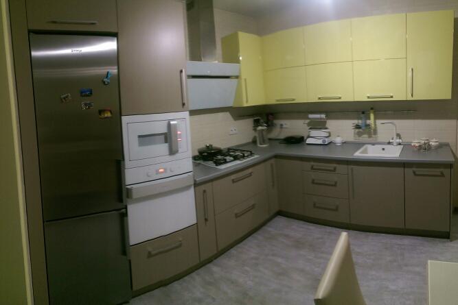 Купить кухню под заказ с фасадами МДФ пленочный super mat Ворзель