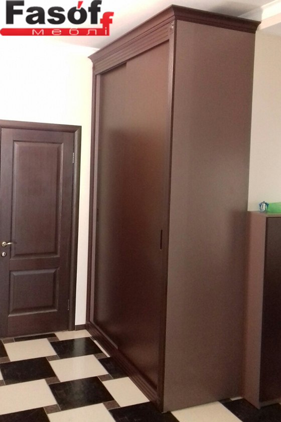 Купить шкаф с крашеными МДФ фасадами и раздвижной системой Слим Киев
