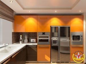 Кухня на заказ Оранжевая