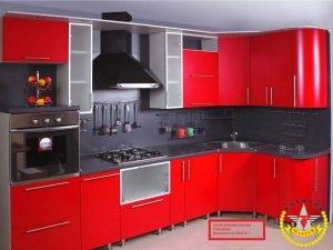 Кухня Феррари красная глянцевая